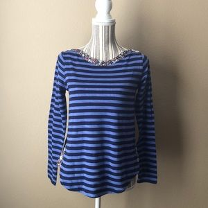 Anthropologie postage stamp large long sleeve top